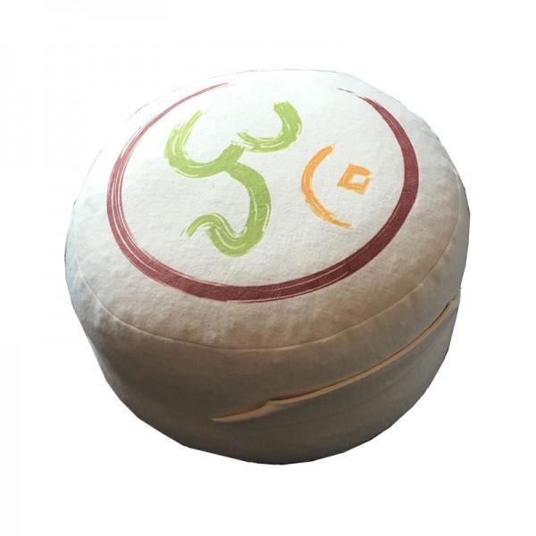 Yogakissen Bio-Flanell bedruckt (GOTS), Höhe: 16 cm, -o- 28 cm Aufdruck OM
